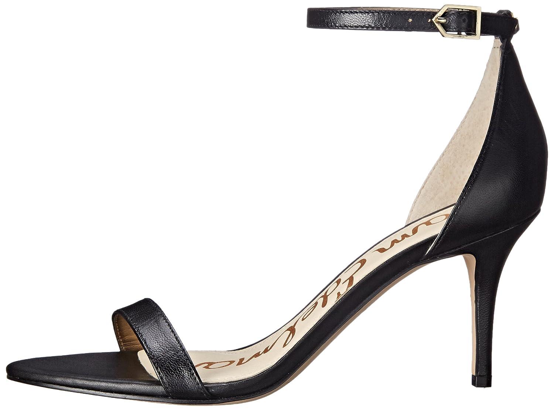 Sam Edelman Women's Patti Dress Sandal B01MRKINGC 8 W US|Black Leather