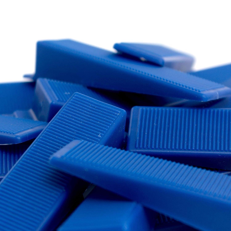Lantelme Montagekeile 500 St/ück Set Kunststoff Keile Bau Fenster Montage Keil Farbe blau Fensterkeile 7067
