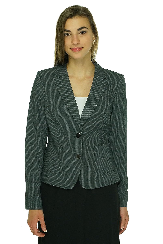 Calvin Klein Women's Pocketed Pinstripe Blazer