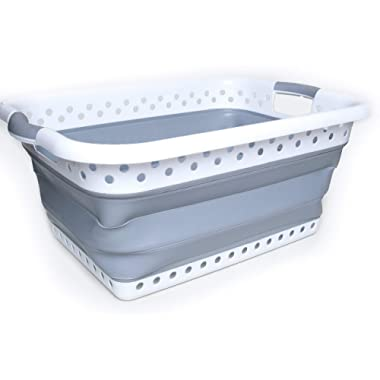 Proper Goods Smart POP UP Collapsible Laundry Basket - Space Saving Foldable Storage Container - Easy to use and Carry - Versatile Portable Organizer
