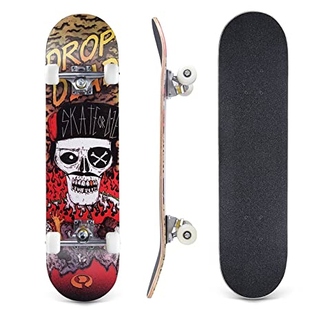 Lelly Q Complete Skateboard - 31 x 8 Inches,8 Layer Maple Wood