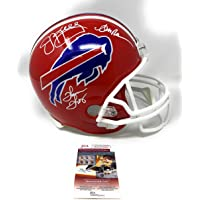 $409 » Jim Kelly Andre Reed Thurman Thomas Buffalo Bills TRIPLE Signed Autograph Throwback Red…