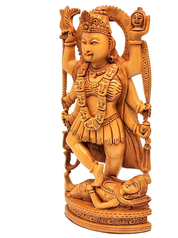 home decor//temple figurine 8 inches Mata Kaali statue in wood Goddess Kali idol//murti//carving in high quality kadam wood