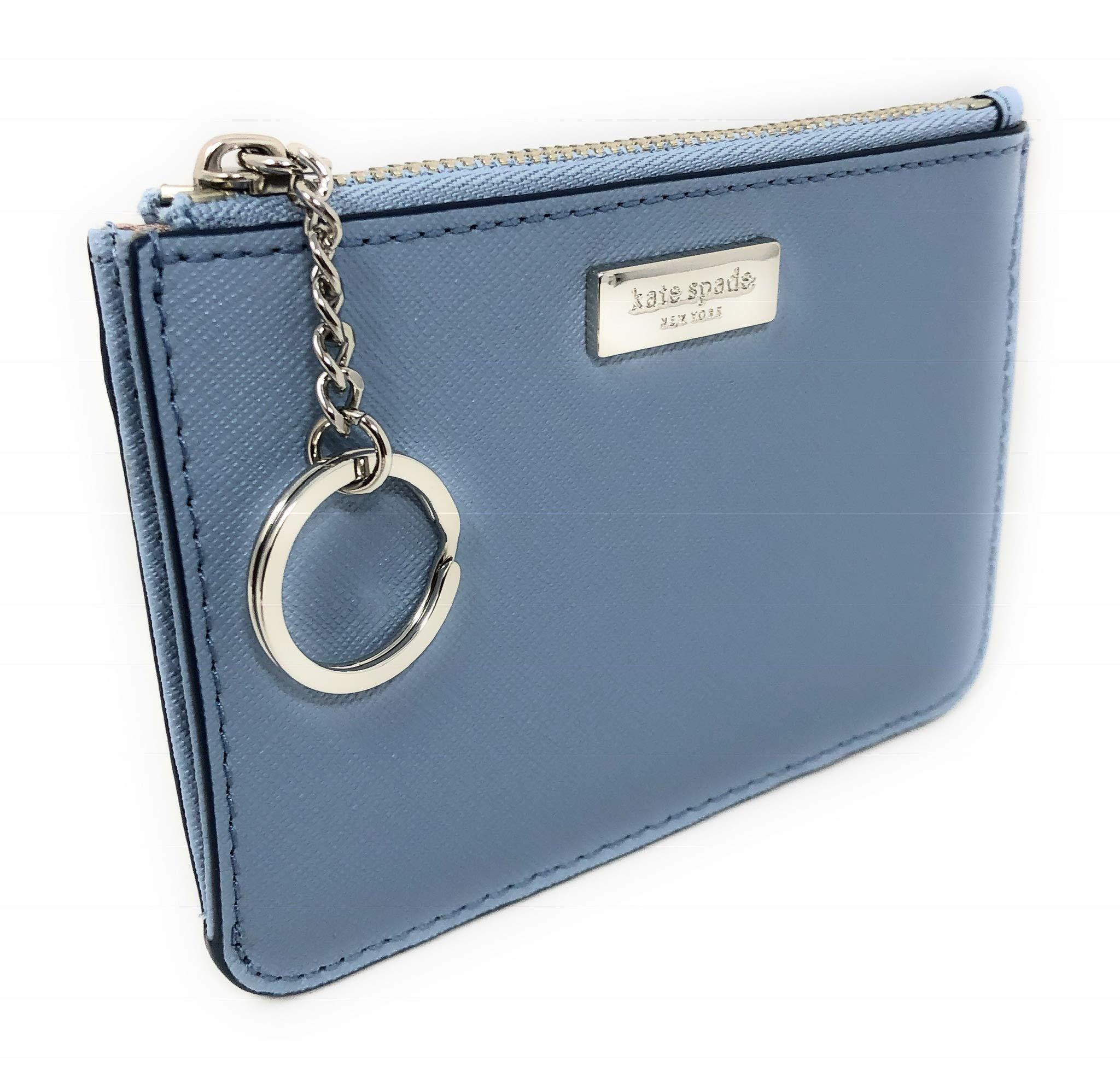 Kate Spade New York Laurel Way Bitsy Card Case W/Keyring Blue Dawn