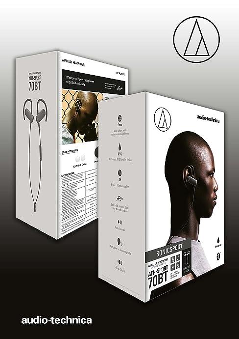 Audio Technica 铁三角 ATH-SPORT70BT 无线蓝牙防水挂耳运动耳机 ¥230
