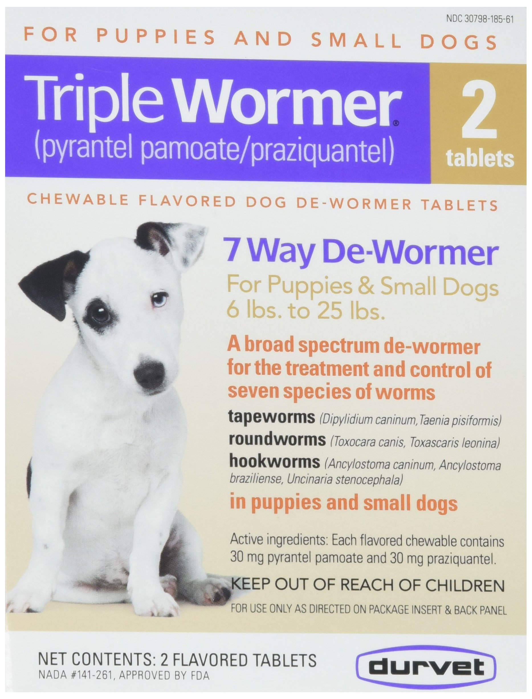 Triple Wormer Broad Spectrum De-Wormer by Durvet