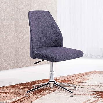 Adec - Butaca silla de escritorio para despacho modelo MIKE base fija color Gris Marengo