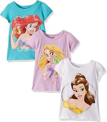 Disney Princess Ni/ñas Camiseta De Manga Corta