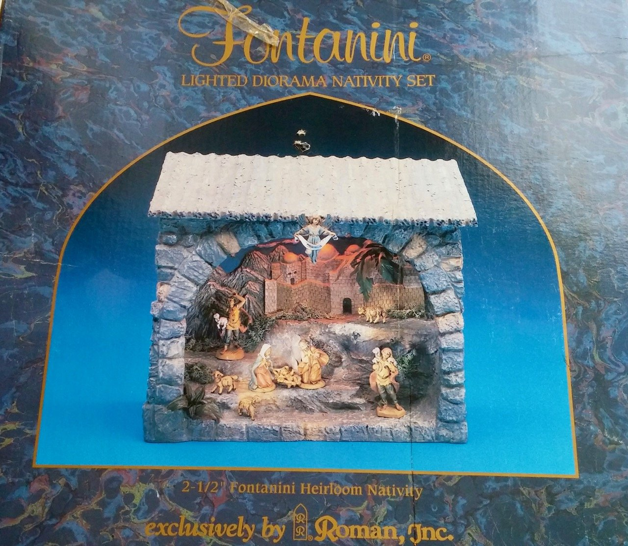 Fontanini Lighted Diorama Nativity Set for 2.5 Heirloom Collection Nativities 54243 by Fontanini® Heirloom Nativity