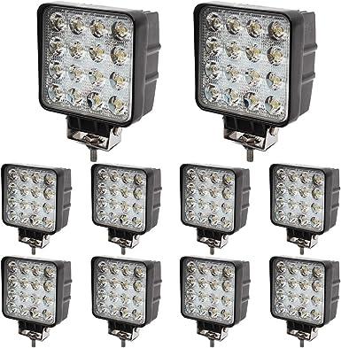 Brightum 10 X 48 W Led Off Road Work Light 4560 Lumen White 12 V 24 V Floodlight Reflector Worklight Work Light Suv Utv Atv Work Lamp Tractor Digger Beleuchtung