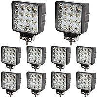 BRIGHTUM 10 x 48W LED offroad werklamp 4560 lumen wit 12V 24V schijnwerper reflector werklicht schijnwerper SUV UTV ATV…