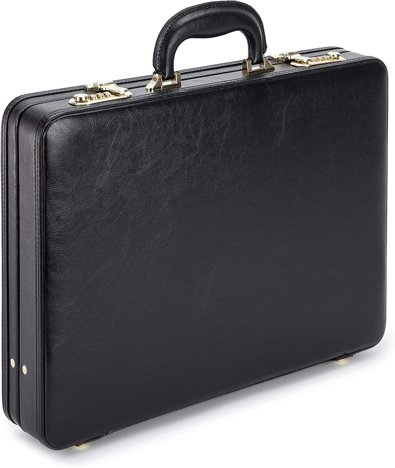 Mens Executive Briefcase Travel PU Leather Attach/é with High Security Combination Locks Black New TOP Quality L43 x H31 x D7cm