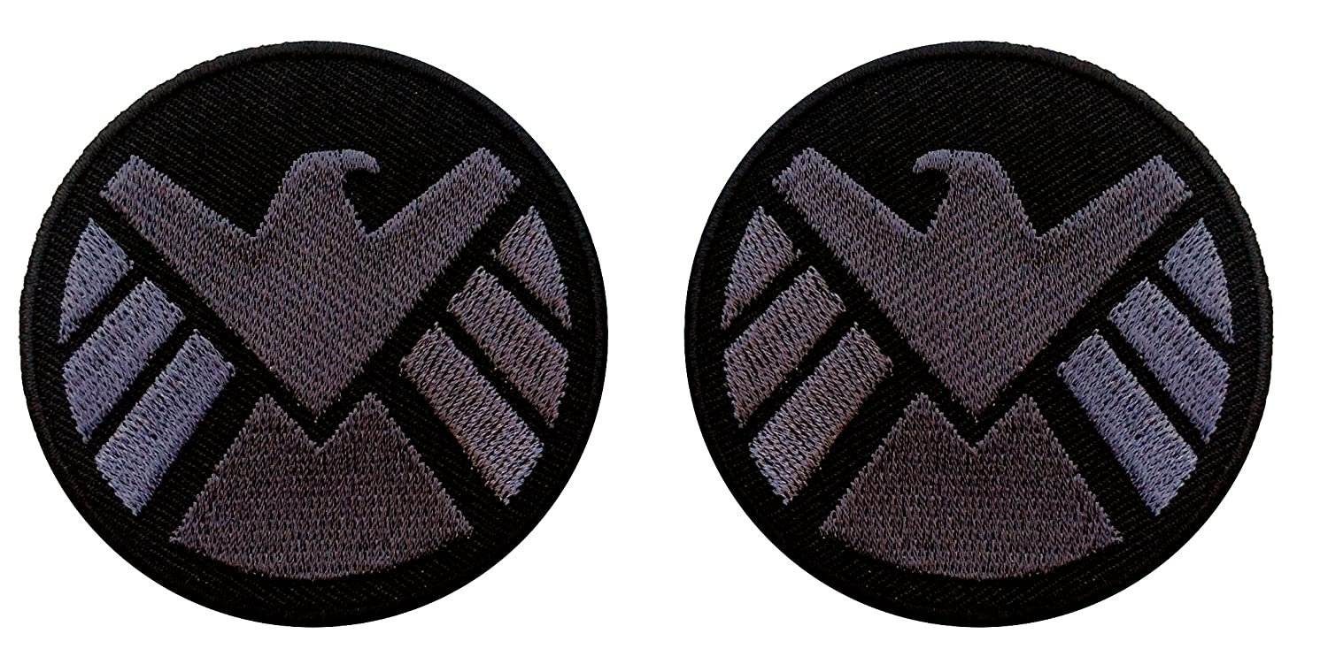 AVENGERS Movie SHIELD Logo Costume Shoulder Patch Set of 2 Patches
