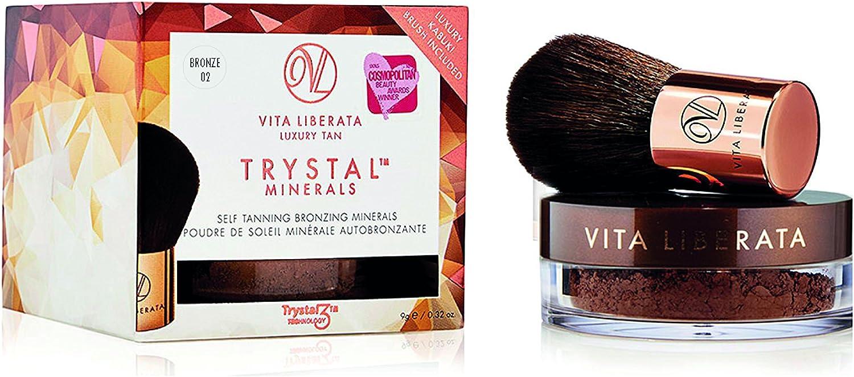 Vita Liberata Trystal Minerals Self Tanning Bronzing Minerals With Kabuki Brush - # 02 Bronze 9g/0.32oz並行輸入品