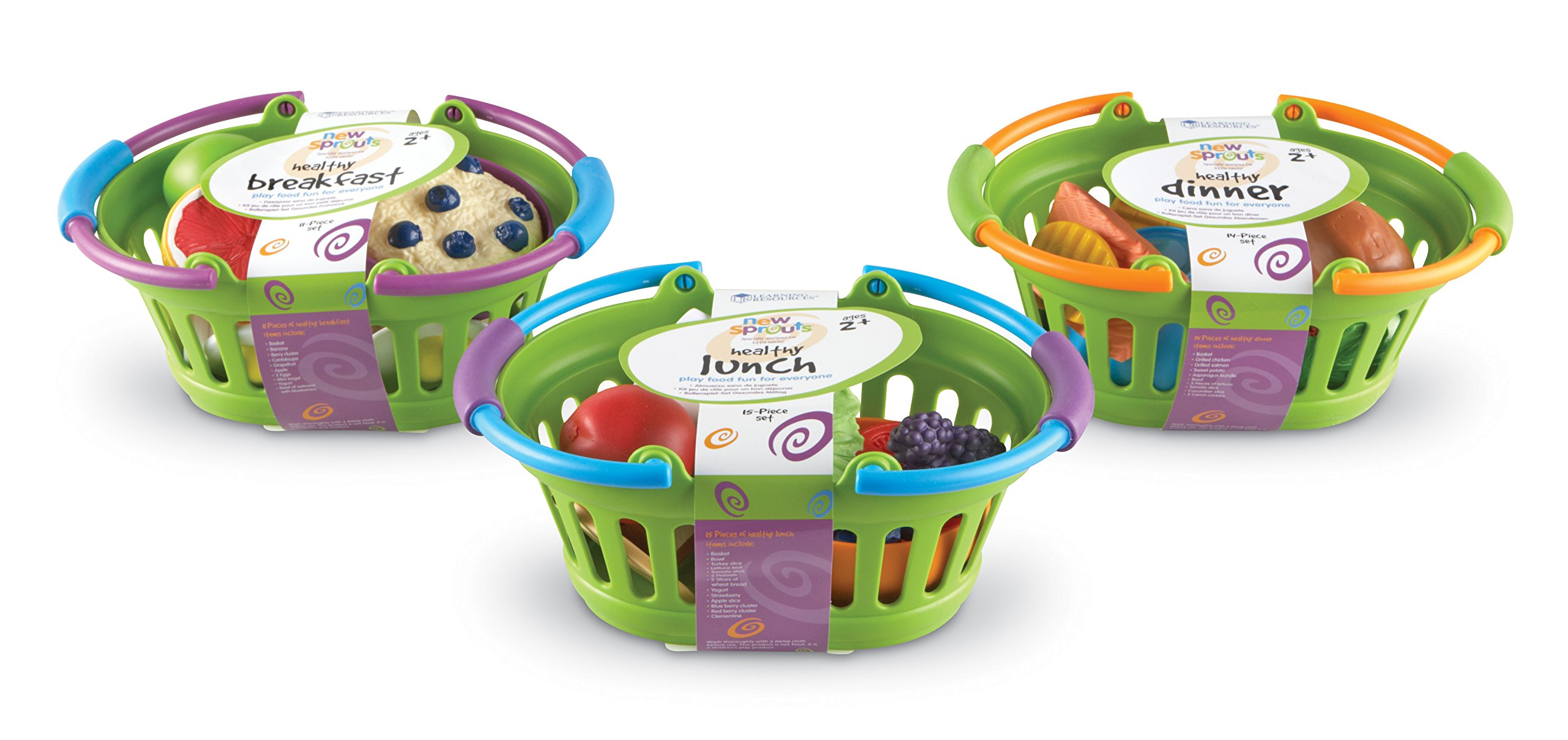 Learning Resources New Sprouts Healthy Foods Basket Bundle, 37 Pieces, Ages 18 mos+