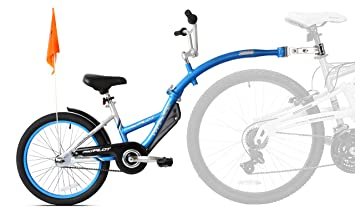 a578cb4315c WeeRide Pro Pilot Aluminium Tagalong Trailer Bike - Blue: Amazon.co ...