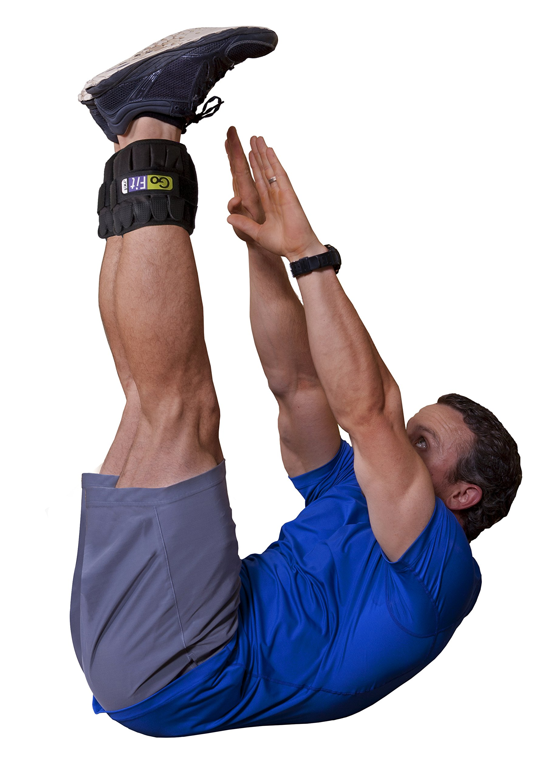 GoFit Padded, Adjustable Ankle Weight Set - Comfortable Training and Rehabilitation Gear by GoFit (Image #7)