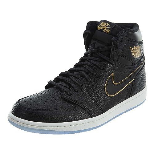 Buy Nike Air Jordan Retro 1 High OG Black/Metallic Gold (9.5 D(M ...