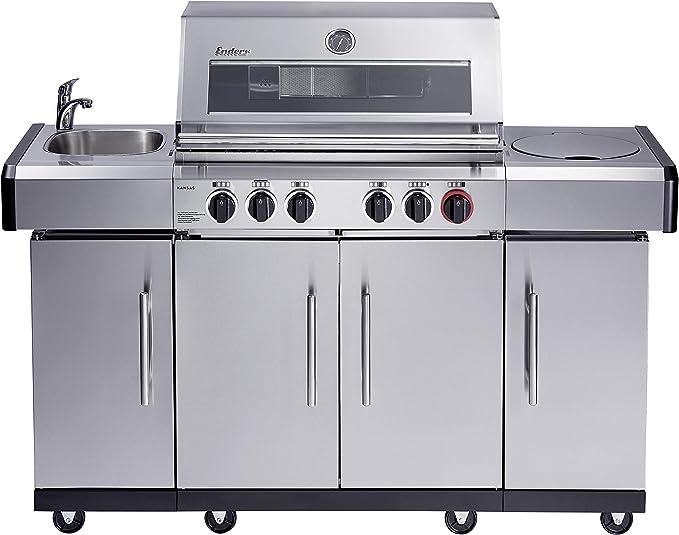 Enders Kansas 3 SIK Turbo Gas Barbecue, Silver: Amazon.de: Garten