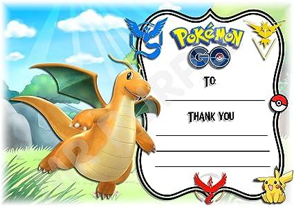 Pokemon gracias por venir fiesta de cumpleaños tarjetas ...