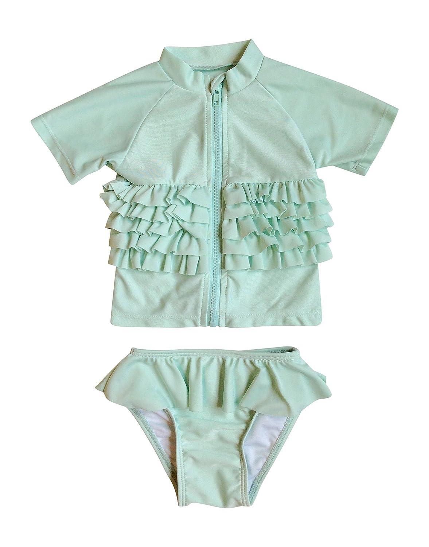 SwimZip Little Girl Rash Guard Swimwear Set Ruffle Me Pretty SZ122
