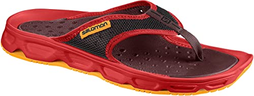 Salomon RX Break Chanclas Hombre, Rojo (Fiery Red/Syrah/Bright Marigold)