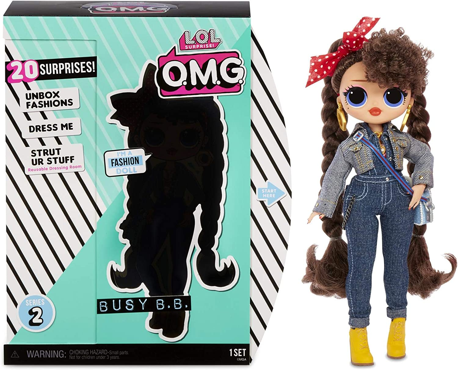 LOL Surprise O.M.G Candylicious Series 2 Fashion Doll With 20 Surprises