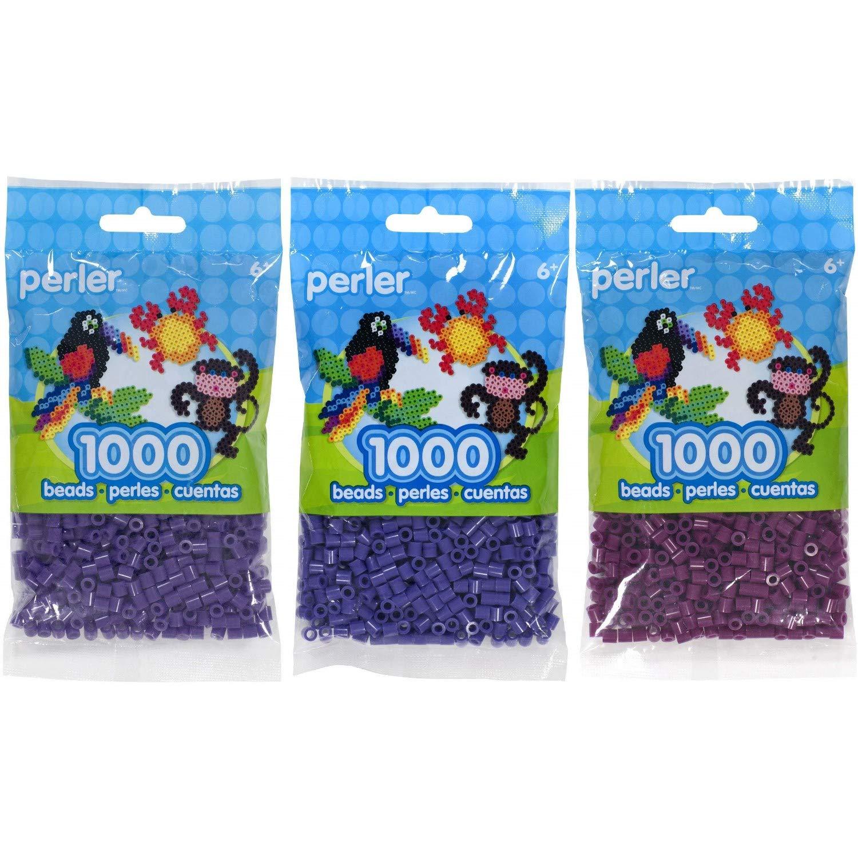 Grape 3-Pack Perler Bead Bag 1000 Iris and Eggplant