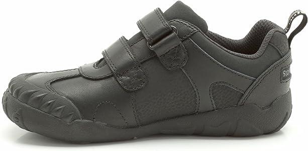 Sale Boys Clarks black leather School shoe Stompo Day