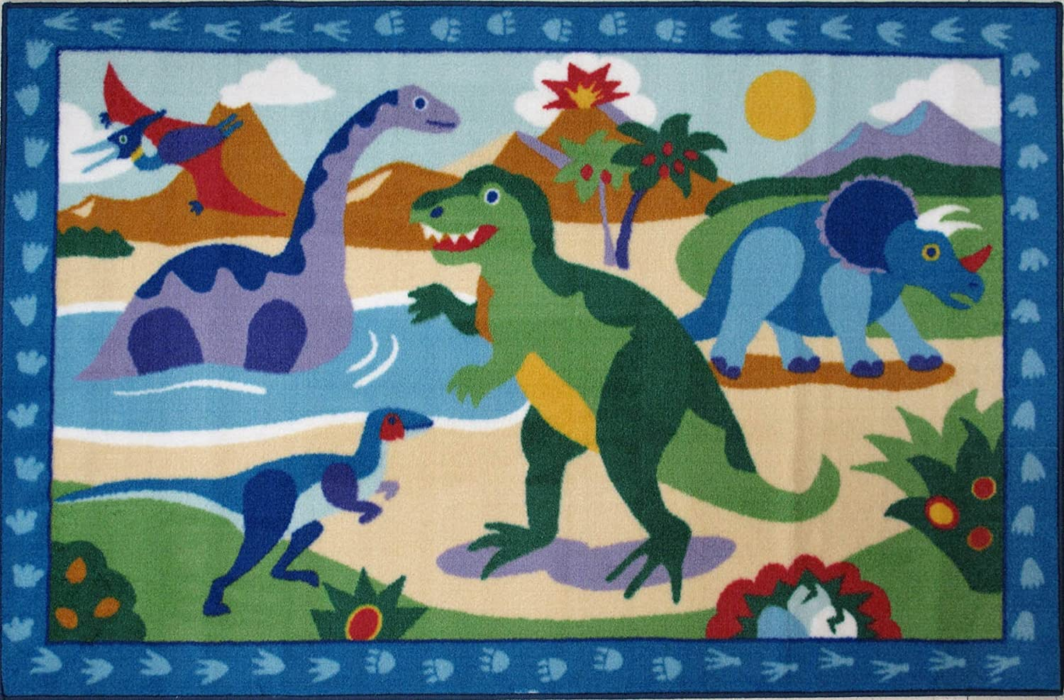 Olive Kids - Dinosaurland Kids Rugs - 39 x 58 in. by Fun Rugs