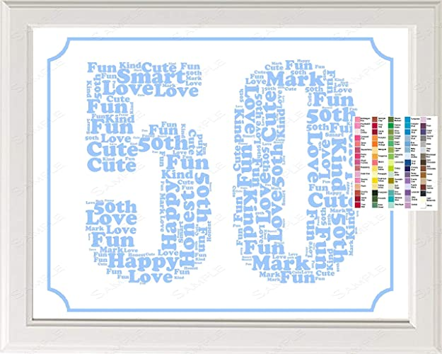 Dad Birthday Gifts For Father Personalized Gift Him Decoration Ideas Keepsake Milestone 50th 8 X 10
