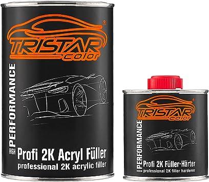 Tristarcolor 2k High Solid Füller Set Grundierung Für Autolack Grau 1 Kg Epoxyfüller Härter Auto
