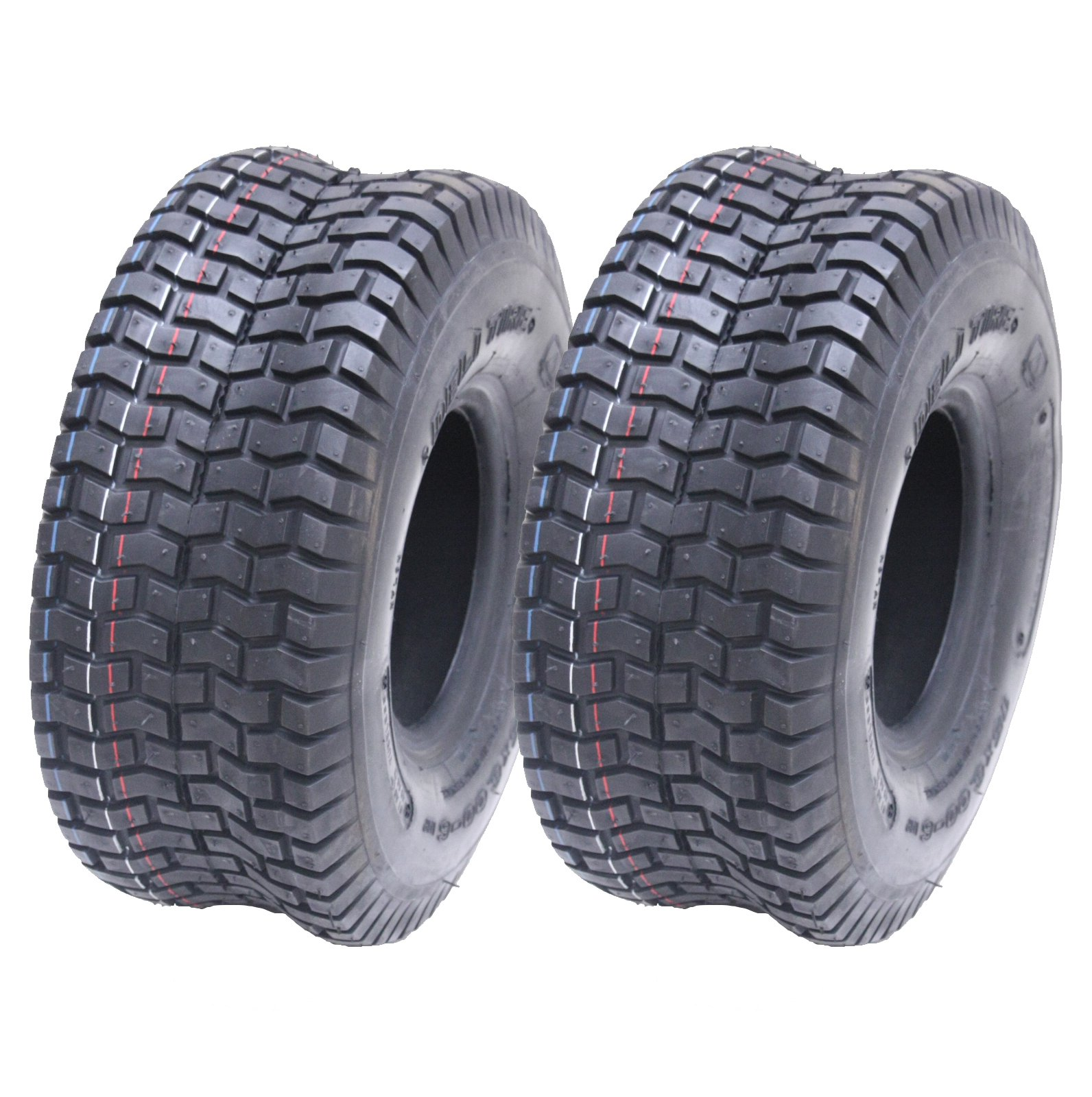 TWO 15X6.00-6 LAWN MOWER TRACTOR TIRES HEAVY DUTY 4 PLY RATED TUBELESS 15 600 6