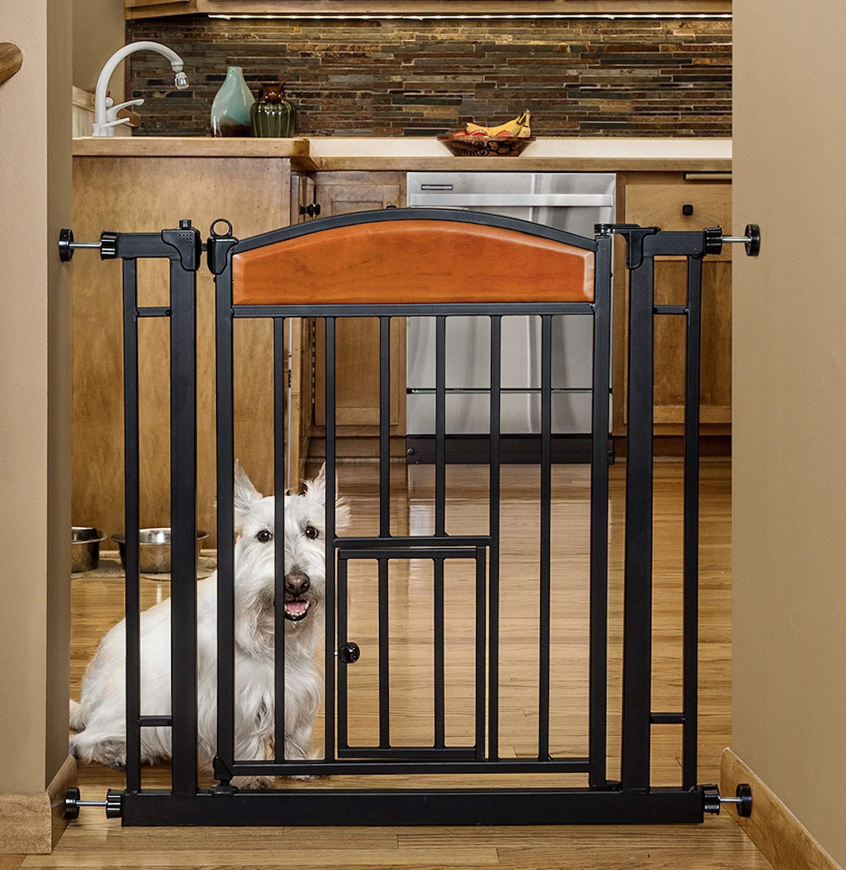Carlson Pet Products Design Studio Home Decor Walk Through Pet Gate by Carlson Pet Products