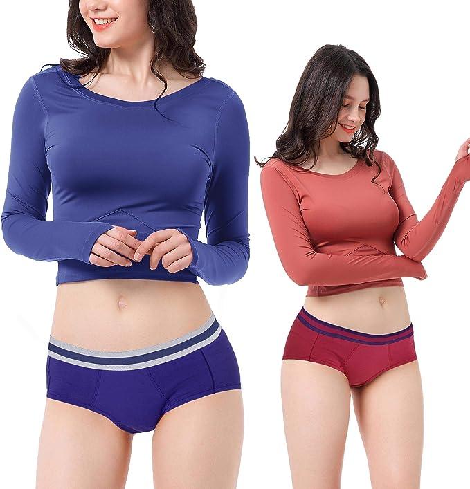 Intimate Portal Femme Culottes en Coton Menstruelles Shorties Imperm/éables P/ériodique pour R/ègles