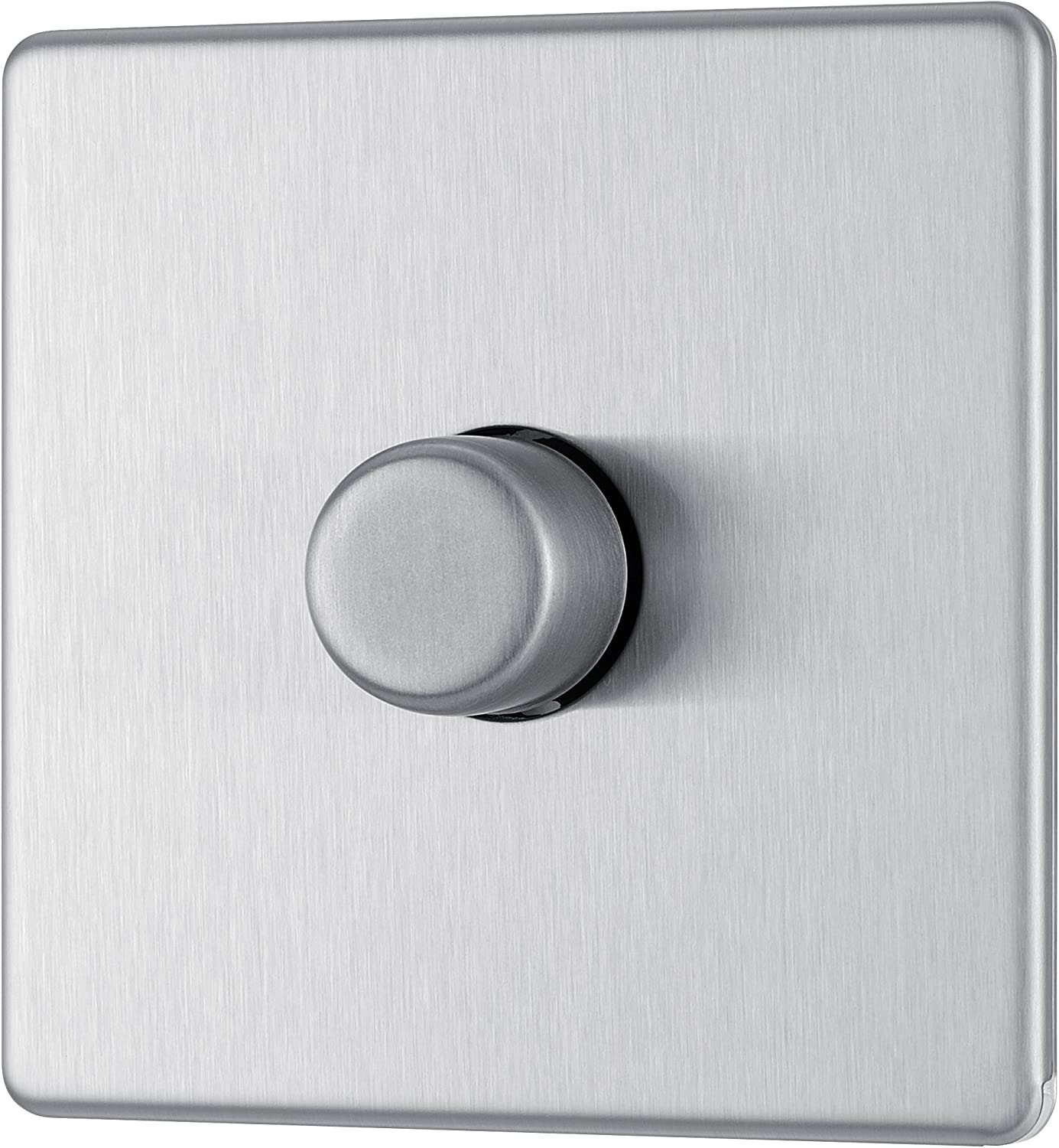 Plug Sockets Dimmers Flat Plate Brushed Stainless Steel FSS3 Light Switches