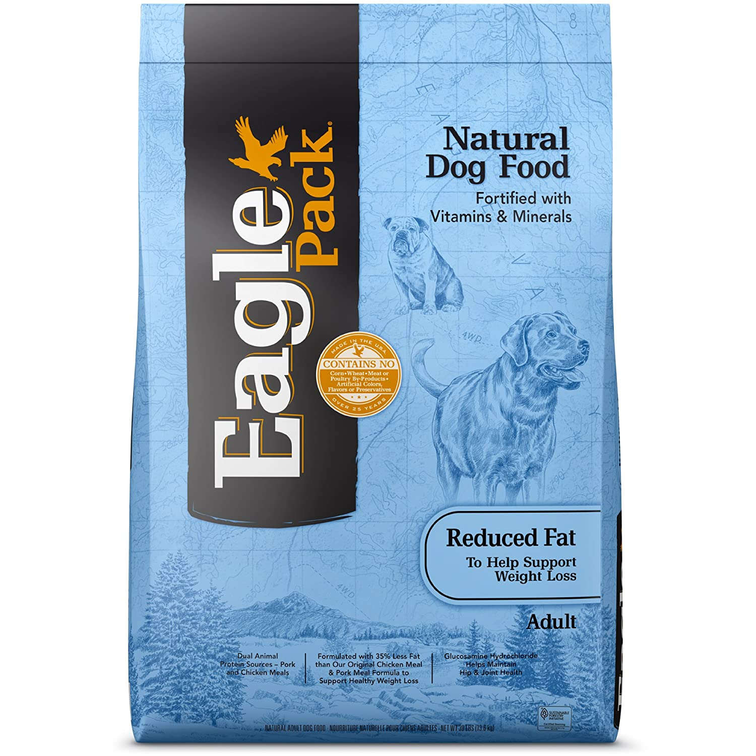 2. Eagle Pack Reduced Fat Adult Dry Dog Food