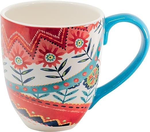 Jumbotasse Becher XXL 810 ml aus Keramik Vogel Kaffeebecher Riesentasse XXXL DUO