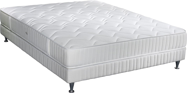 Simmons k22W140200Mailand Matratze + Lattenrost + Fuß weiß 200x 140x 38cm