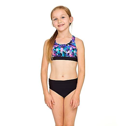 Zoggs Mädchen Kitch Chaos Muscle 2 Piece Bikini Amazonde Bekleidung