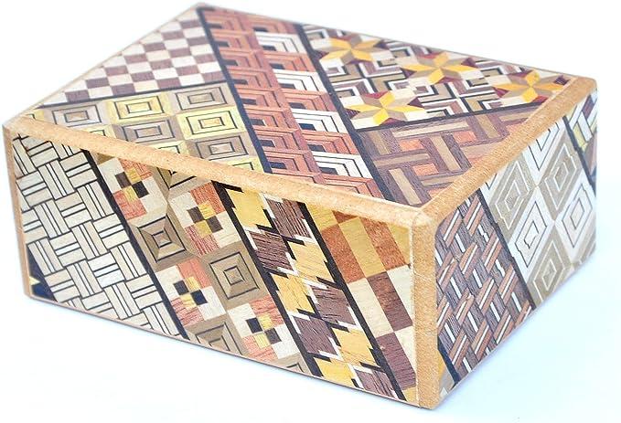 LOGICA GIOCHI Art. Cofre Yosegi 7 - La Caja Secreta - Rompecabezas de Madera - Caja Japonesa 7 Etapas: Amazon.es: Juguetes y juegos