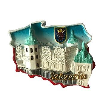 Amazon De 3d Kuhlschrank Magnet Polen Tourist Souvenirs Stettin