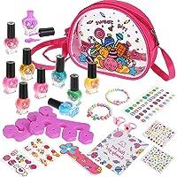 Gemeer Kit de Manicura para Niños, Juego de Esmalte de Uñas de Secado Rápido, Juguetes Niña Rainbow Candy Colors…
