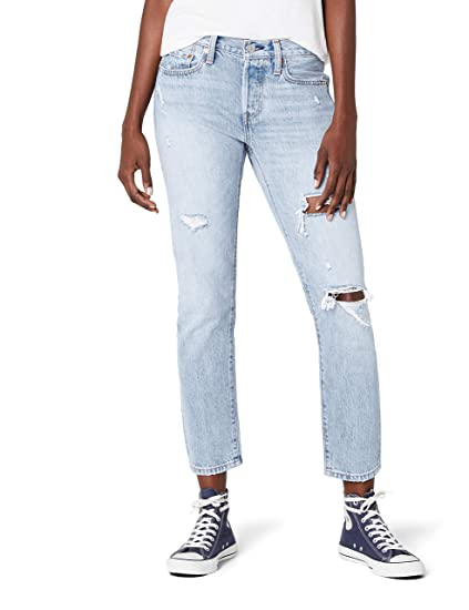dde70d82eee Levi's Women's 501 Taper Straight Jeans, Blue (So Called Life 0023), ...