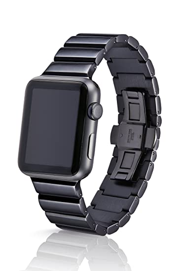 42/44mm JUUK Obsidian Ligero Premium Watch Band Made for The Apple Watch, Using Aircraft Grade, Hard Anodized 6000 Series Aluminum with a Solid ...