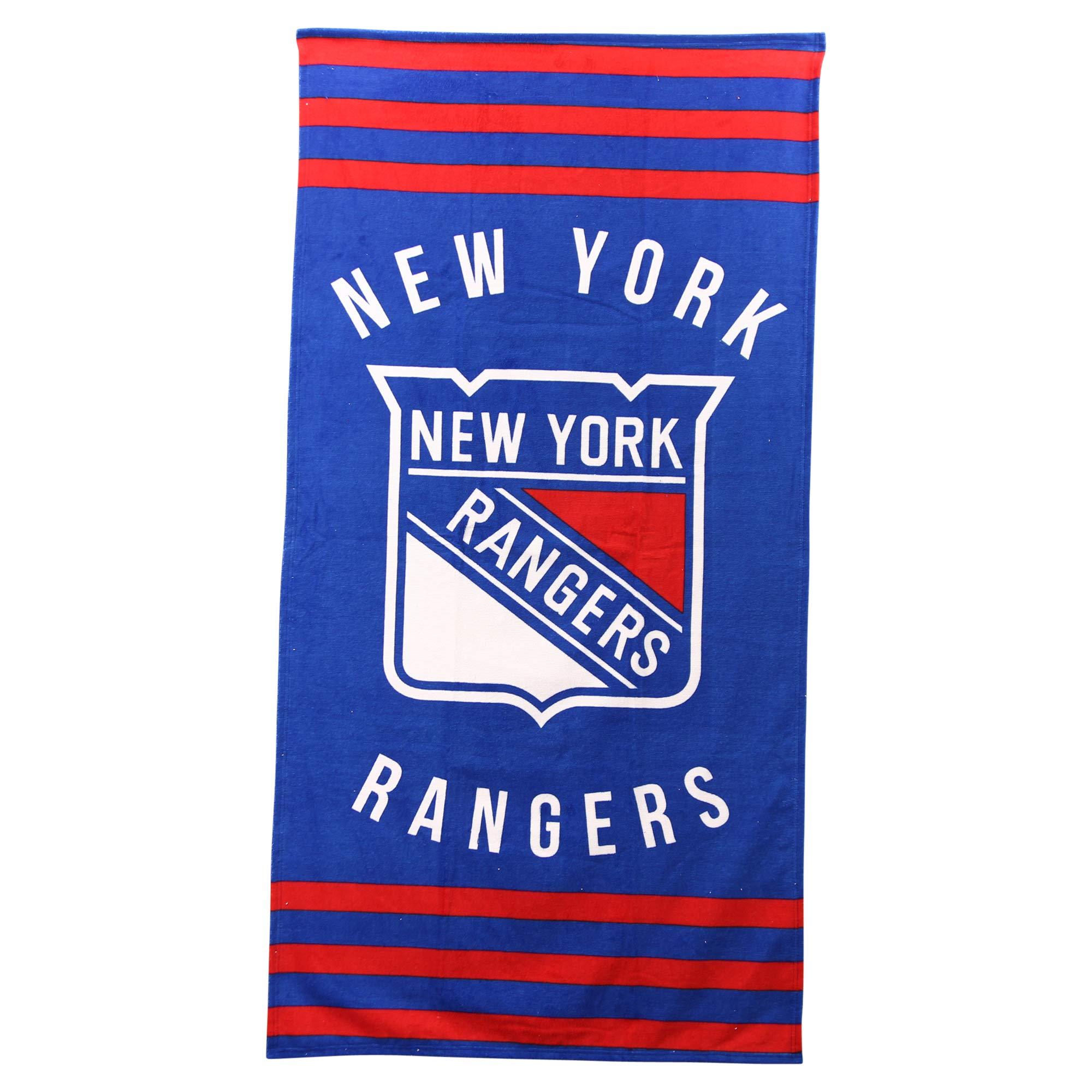 The Northwest Company NHL Striped Beach Bath Towel 30'' x 60'' (New York Rangers)
