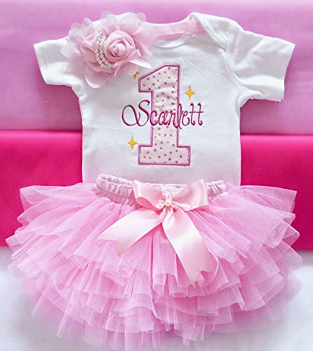 528b83b3b294 Baby girl first birthday outfit,pink 1st birthday outfit,first birthday  outfit,Cake smash outfit girl,princess birthday outfit girl,personalized 1st  ...