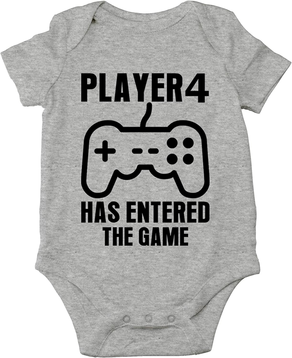 CBTwear Player 4 Has Entered The Game - New Sibbling Announcement - Cute Infant One-Piece Baby Bodysuit
