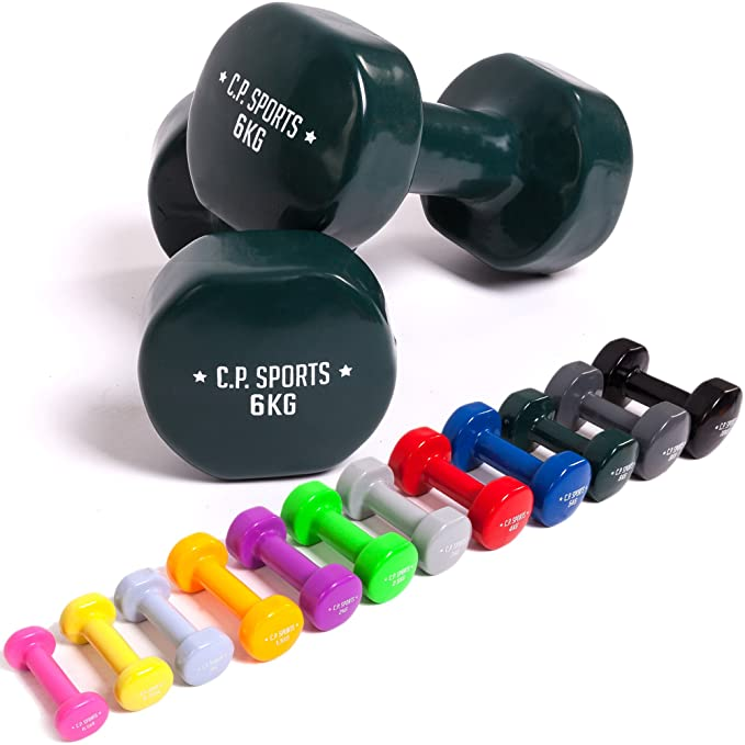C.P. 1 par de mancuernasde vinilo, mancuernas de puño, pesas, fitness, 0,5; 0,75; 1; 1,5; 2; 2,5; 3; 4; 5; 6; 8; 10 kg, de C.P. Sports: Amazon.es: Deportes ...