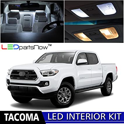 LEDpartsNow 2016 2017 Toyota Tacoma LED Interior Lights Accessories  Replacement Package Kit (9 Pieces